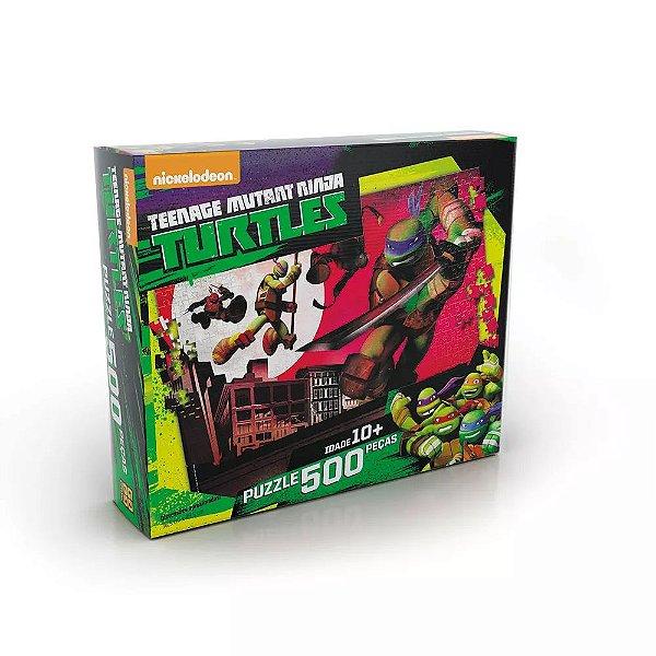 Quebra-Cabeça Tartarugas Ninja - 500 Peças
