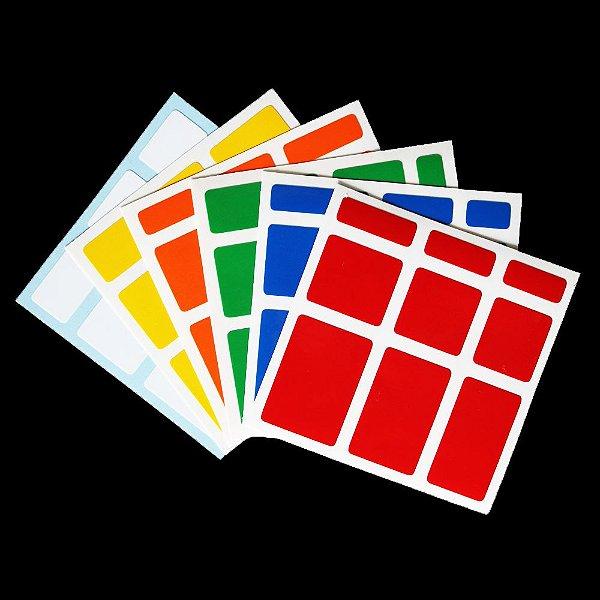 Adesivo Mirror Blocks Colorido