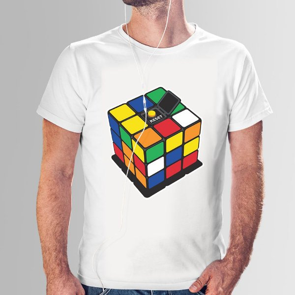 Camiseta Cubo Mágico RESET