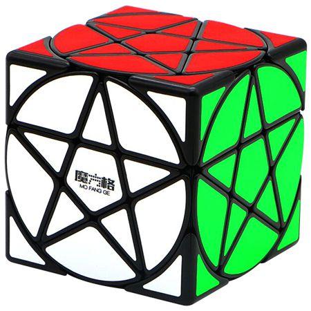 Star Cube - Pentacle Cube Preto Qiyi-MoFangGe