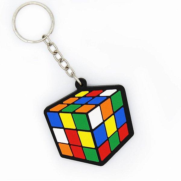 Chaveiro de Borracha - Cubo Mágico Desmontado