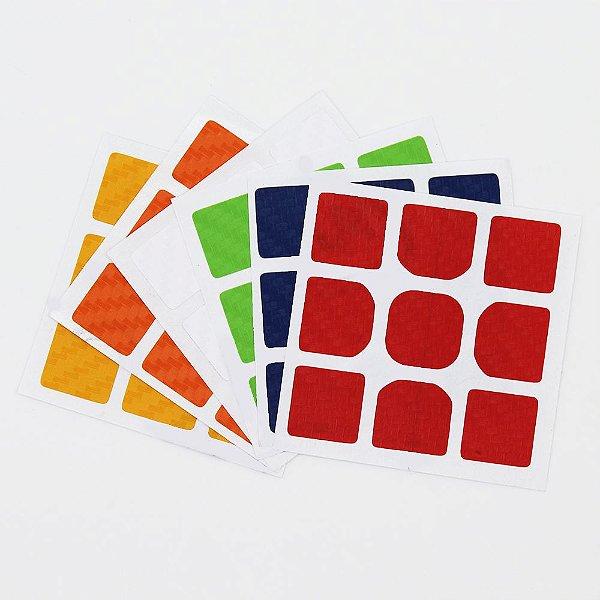 Adesivo 3x3x3 Carbono Colorido - MF3RS