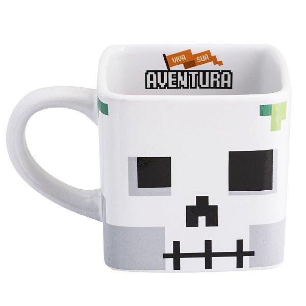 Caneca Quadrada Aventura - Minecraft
