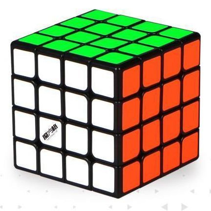 Cubo Mágico 4x4x4 Qiyi-MFG Thunderclap 6,0 cm Preto