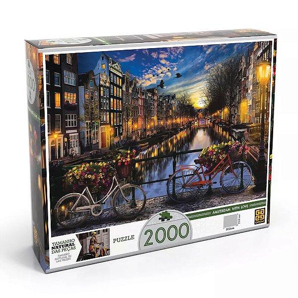 Quebra-Cabeça Verão em Amsterdã 2000 Peças