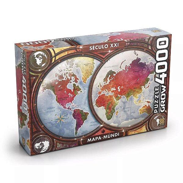Quebra-Cabeça Mapa-Múndi 4000 Peças