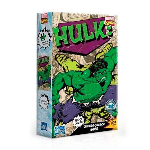 Quebra-Cabeça Marvel Comics - Hulk 500 Peças Nano