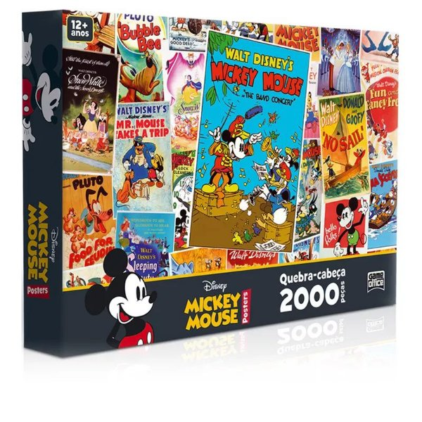 Quebra-Cabeça Mickey Mouse Posters 2000 Peças