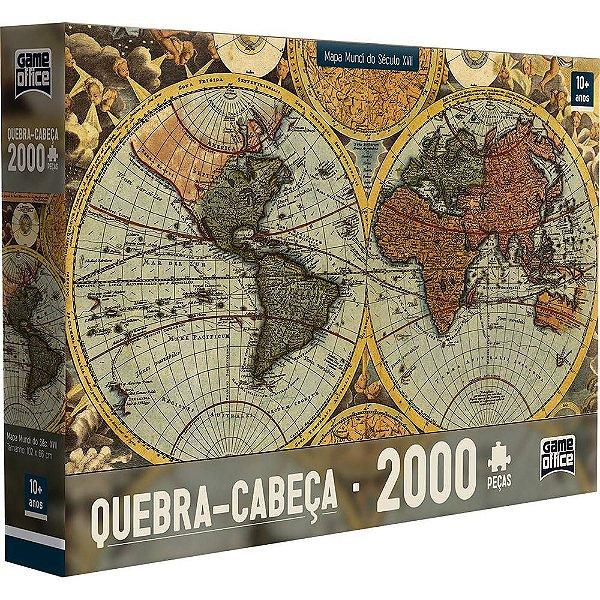 Quebra-Cabeça Mapa Mundi Século XVII 2000 Peças
