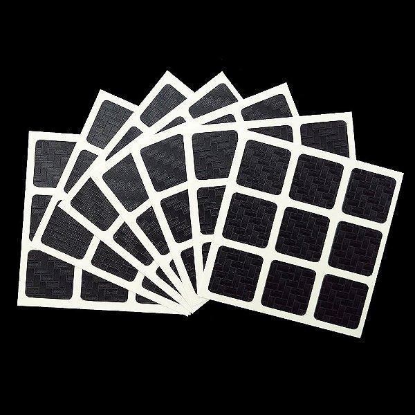 Adesivo 3x3x3 Carbono 57 mm
