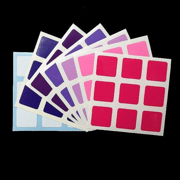 Adesivo 3x3x3 Purple e Pink