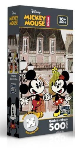 Quebra-Cabeça Mickey Mouse - Mickey e Minnie 500 Peças Nano