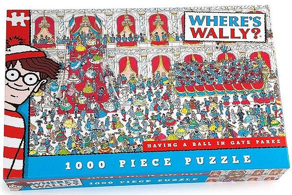 Quebra-Cabeça Where's Wally? Having a Ball in Gaye Paree 1000 peças