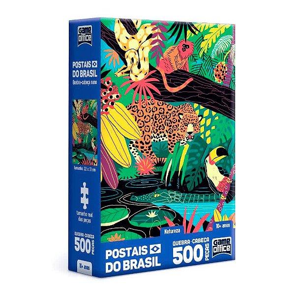 Quebra-Cabeça Postais do Brasil - Natureza 500 Peças Nano