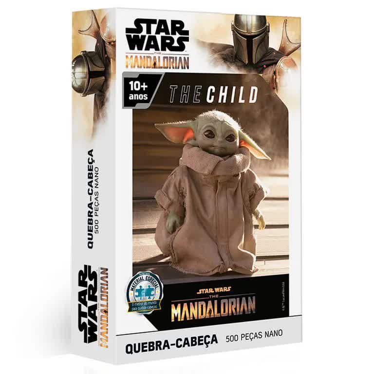 Quebra-Cabeça Star Wars - The Mandalorian - The Child 500 Peças Nano