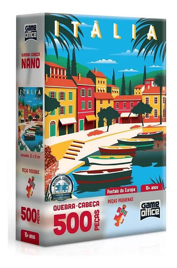 Quebra-Cabeça Postais da Europa - Itália 500 Peças Nano