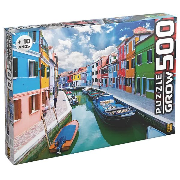 Quebra-Cabeça Canal de Burano 500 peças