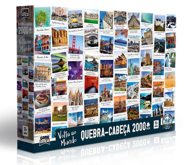 Quebra-Cabeça Volta ao Mundo 2000 peças