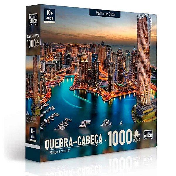 Quebra-Cabeça Paisagens Noturnas - Marina De Dubai 1000 peças