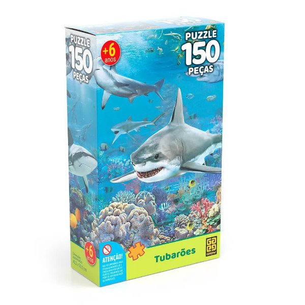 Quebra-Cabeça Tubarões 150 peças