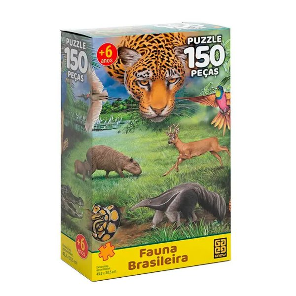Quebra-Cabeça Fauna Brasileira 150 peças