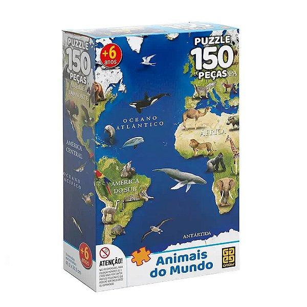 Quebra-Cabeça Animais do Mundo 150 peças