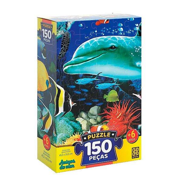 Quebra-Cabeça Amigos do Mar 150 peças