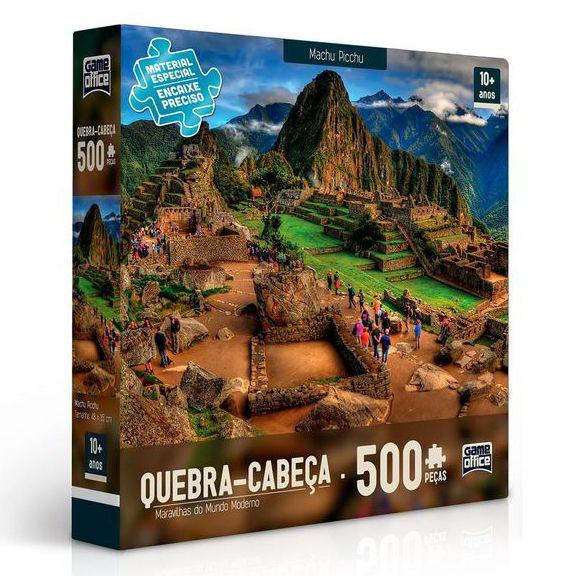 Quebra-Cabeça Maravilhas do Mundo Moderno - Machu Picchu 500 peças