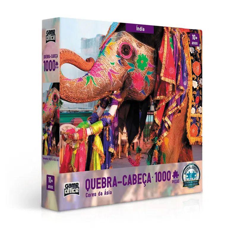 Quebra-Cabeça Cores da Ásia - Índia 1000 peças