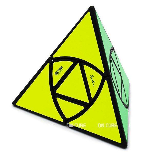 Cubo Mágico Pyraminx Justin Eplett Qiyi Preto