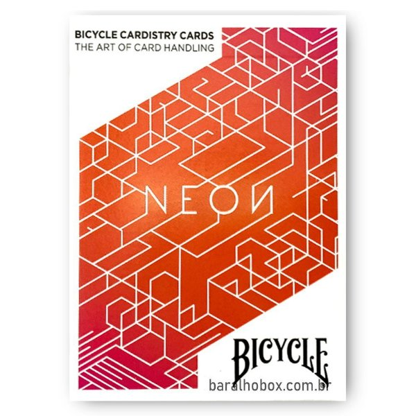 Baralho Bicycle Neon Orange Bump Cardistry