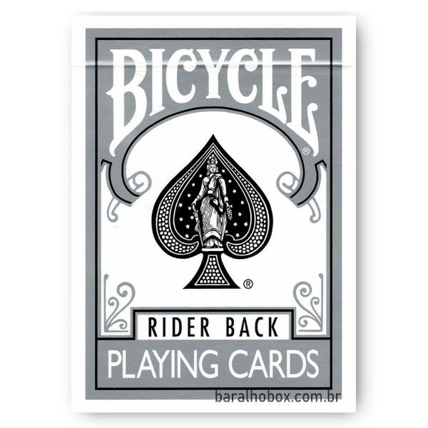 Baralho Bicycle Rider Back Silver