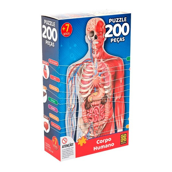 Quebra-Cabeça Corpo Humano 200 peças