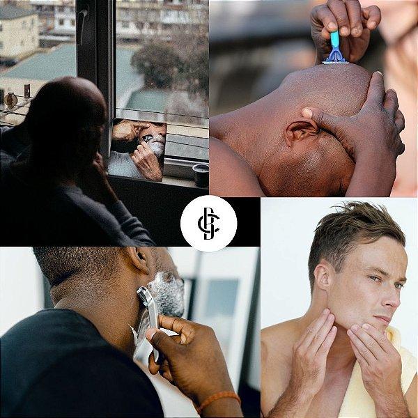 KIT PELE LISINHA - 2 Cremes de Barbear e 2 Pós Barba