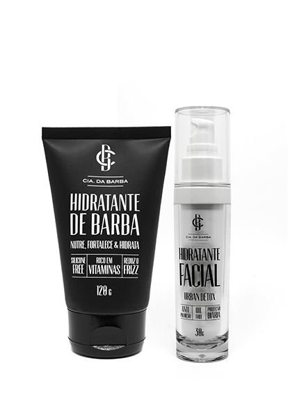 Kit Presente - Hidratante Barba e Pele: Balm Hidratante 120g + Antipoluição Hidratante Facial 30g CIA. DA BARBA
