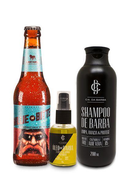Kit de Presente: Shampoo de Barba + Óleo Barba Bastards + Cerveja APA Bastards