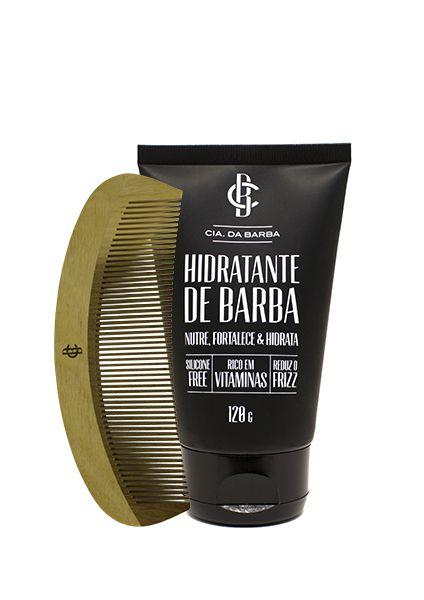 Kit de Presente Masculino: Balm Hidratante de Barba Sem Silicone + Pente Cabelo e Barba CIA. DA BARBA