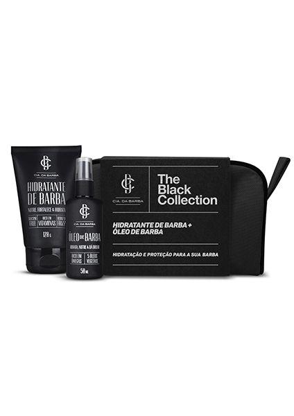 Kit Presente BLACK COLLECTION -Barba: Necessaire + Balm Hidratante Barba 120g + Óleo Barba 50ml CIA. DA BARBA