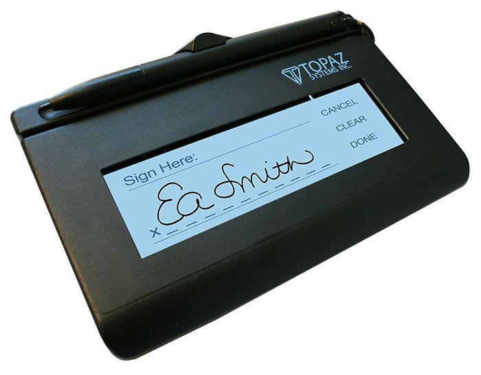 Coletor de Assinaturas Topaz Systems Modelo Série T-LBK460 Siglite LCD 1X5