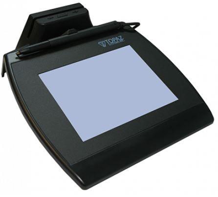 Coletor de Assinatura Topaz Systems Série TM-LBK766 Modelo Cartão Magnético Signaturegem LCD 4X5 MSR