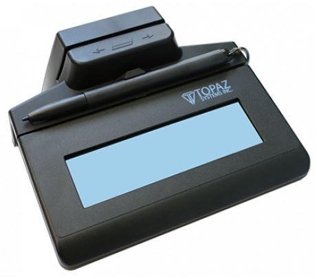 Coletor de Assinaturas Topaz Systems Cartão Magnético TM-LBK460 Siglite LCD 1X5 MSR