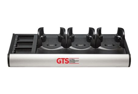 HCH-7033-CHG - Carregador de Bateria GTS 6 Compartimentos (3 Aparelhos + 3 Baterias) Para Symbol MC70/ MC75