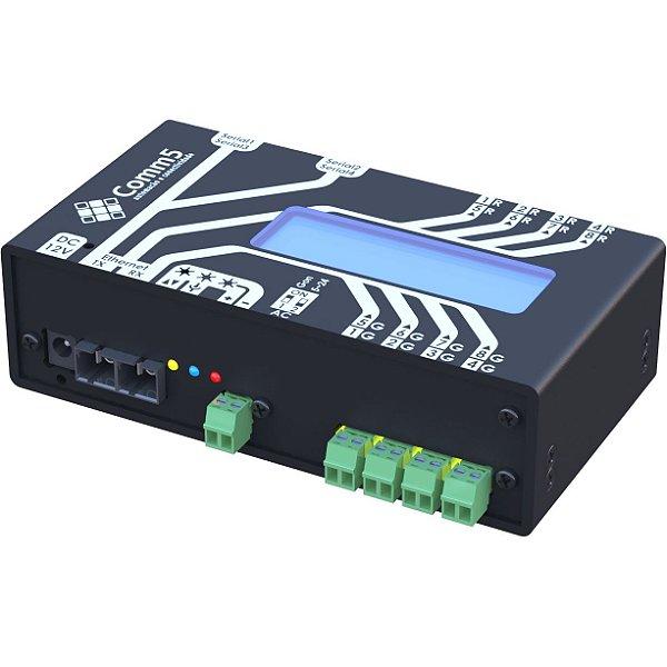 MA-2000-2FX Módulo de Acionamento via rede fibra ótica 100Base-FX com 4 saídas, 4 entradas, 2 portas seriais e Display acoplado