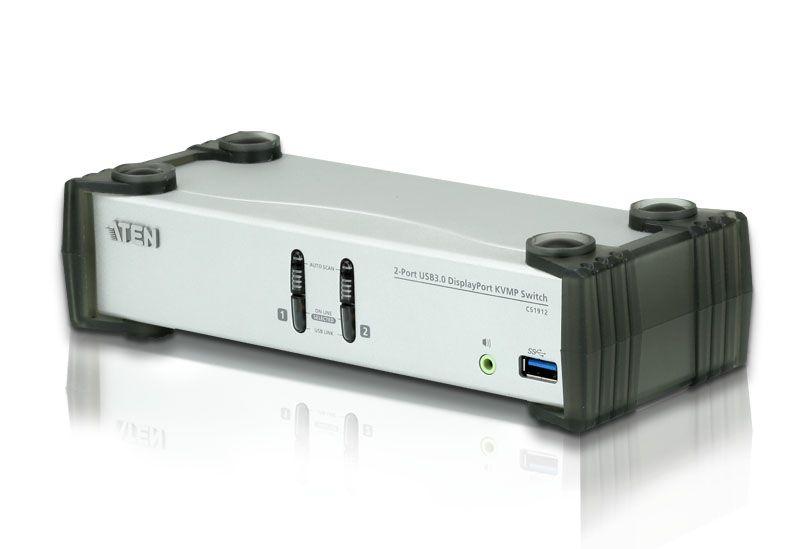 CS1912 Switch USB 3.0 DisplayPort KVMP™ de 2 Portas (Cabos incluídos)