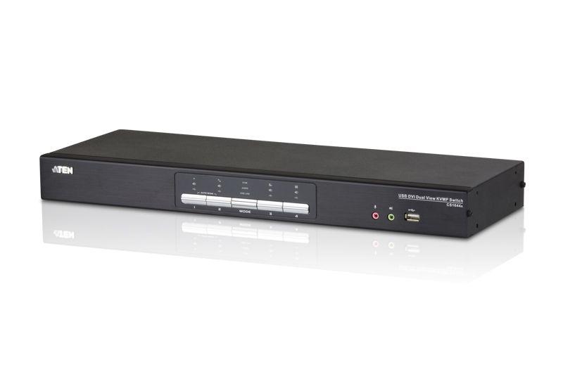 CS1644A Switch USB DVI Dual Link Dual Display/Audio KVMP™ de 4 portas