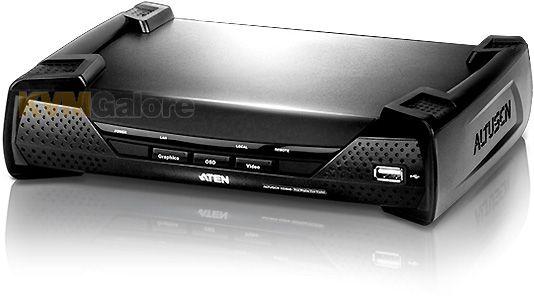 KE6900R Receptor KVM sobre IP USB de exibição única DVI-I