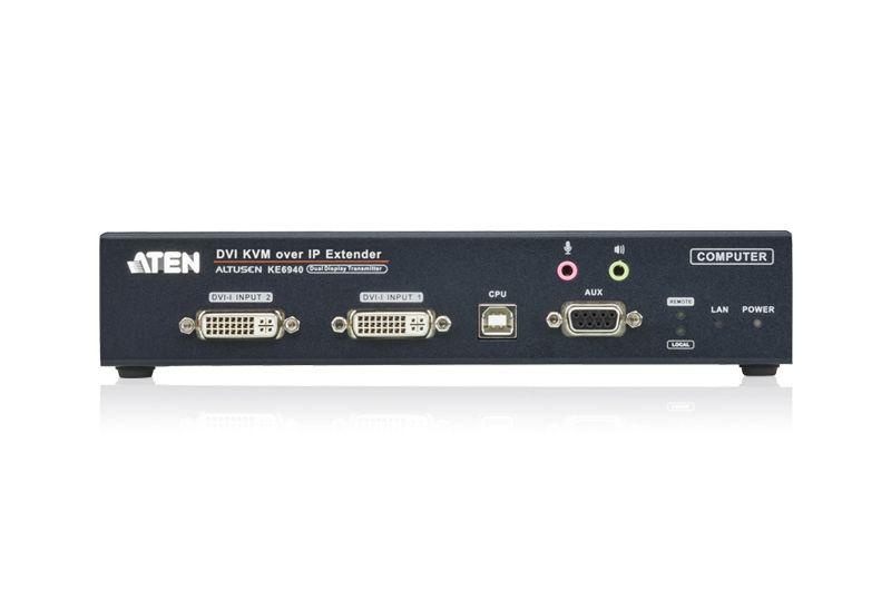 KE6940T Transmissor KVM sobre IP IP DVI-I de exibição dupla   KE6940T