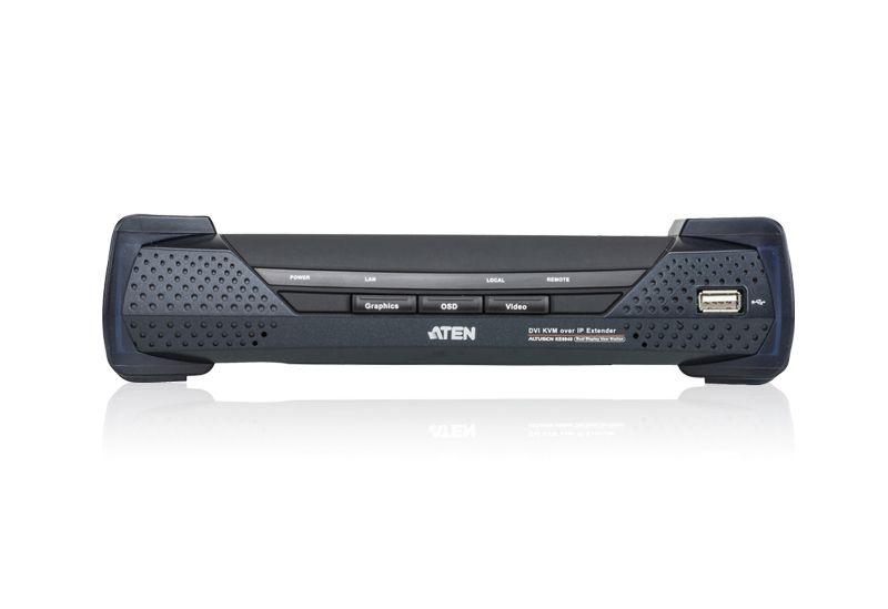 KE6940R Receptor KVM sobre IP DVI-I de exibição dupla USB