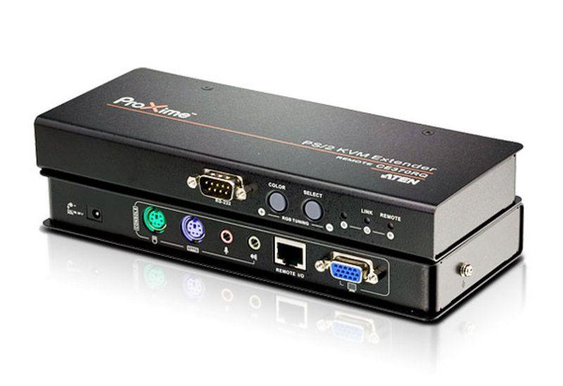 CE370 Extensor KVM PS / 2 VGA / Audio Cat 5 com Deskew (1280 x 1024 a 300m)