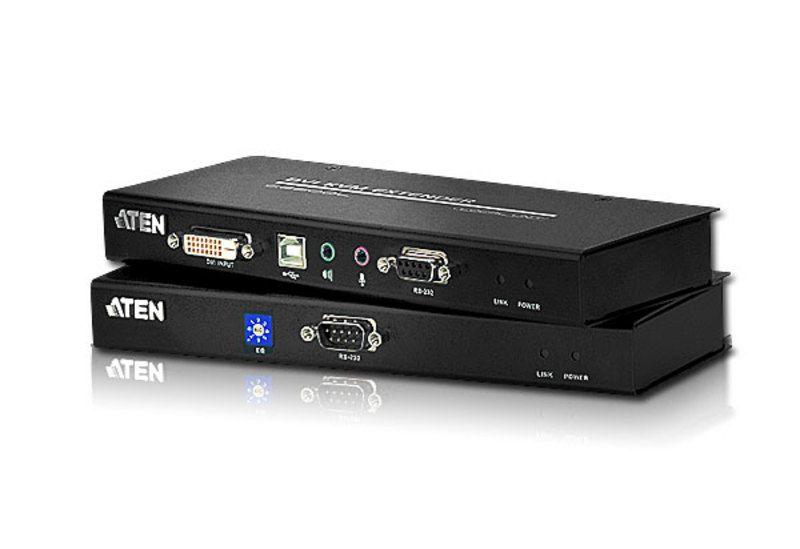CE602 Extensor KVM USB DVI de dupla ligação Cat 5 (1024 x 768 a 60m)